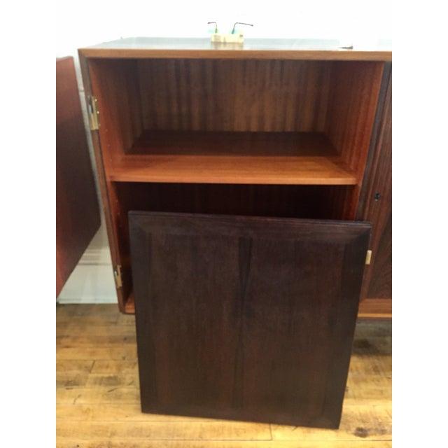 Danish Modern Rosewood 2 Door Cabinet - Image 6 of 10