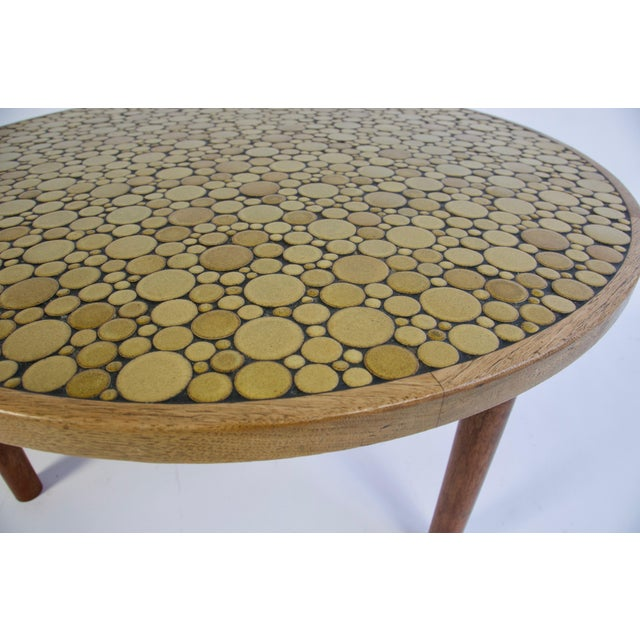 Gordon & Jane Martz Ceramic Tile-Top Coffee Table by Gordon and Jane Martz For Sale - Image 4 of 8