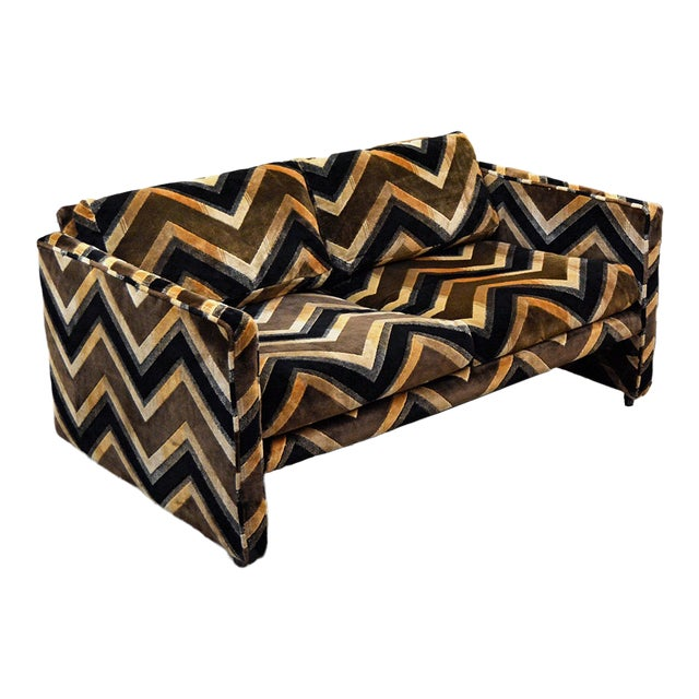Mid Century Milo Baughman Style Case Sofa For Sale