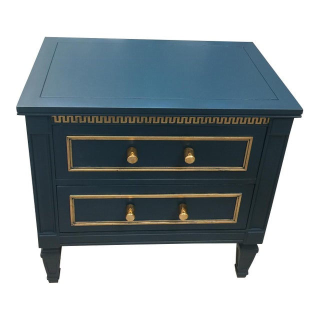 Drexel 20th Century Hollywood Regency Drexel Side Table/ Night Stand For Sale - Image 4 of 6