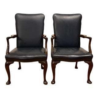 Mid 20th Century Kittenger Leather Chairs- a Pair For Sale