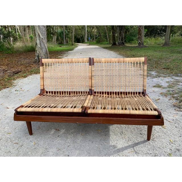 Hans Olsen for Bramin Mid-Century Modern Scandinavian Modular Bench Sofa and Loveseat-A Pair For Sale - Image 9 of 13