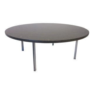 Florence Knoll Marble Top Parallel Bar Coffee Table For Sale