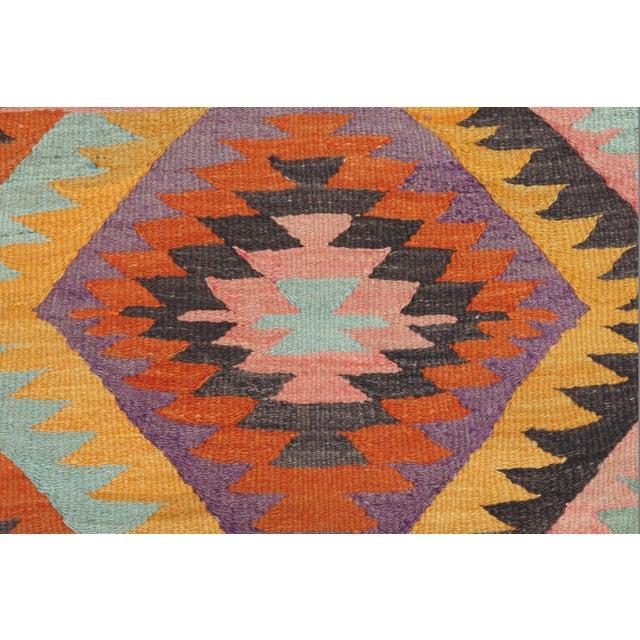Vintage Turkish Barak Nomad's Flat Weave Rug For Sale - Image 9 of 12