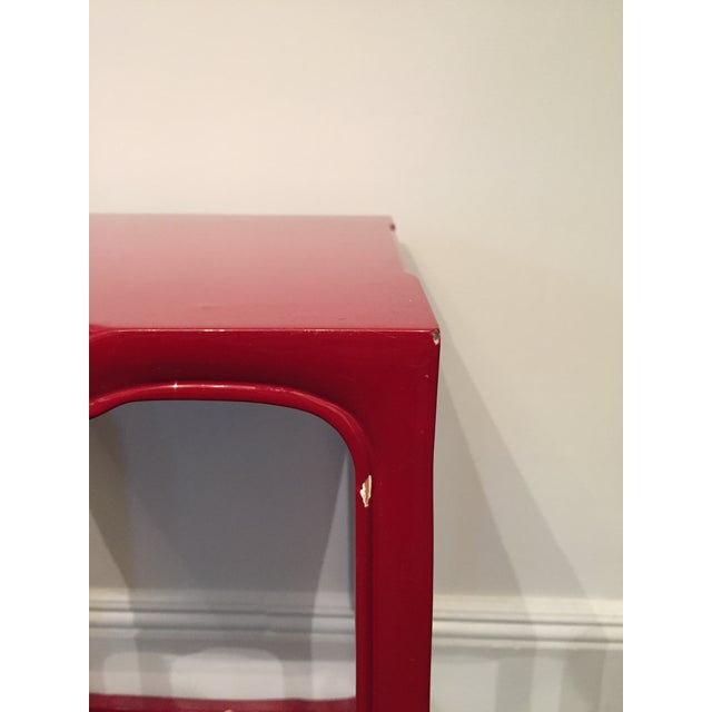 Modern-Asian Red Square Side Table - Image 3 of 5