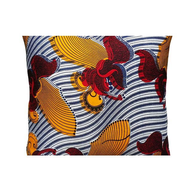 Harp African Print Pillows - a Pair - Image 2 of 3