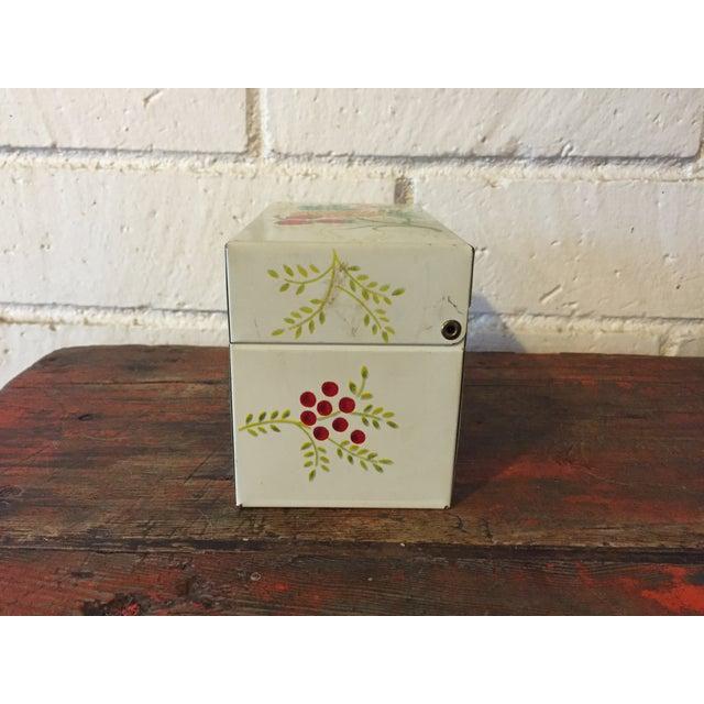 Tin Recipe Box With Fruit - Image 4 of 9