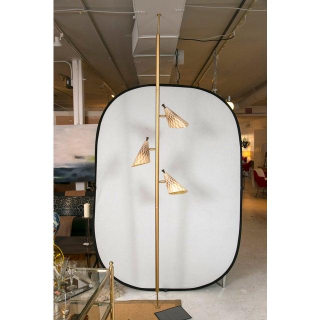 Retro Pole Multihead Floor Lamp - Image 2 of 11