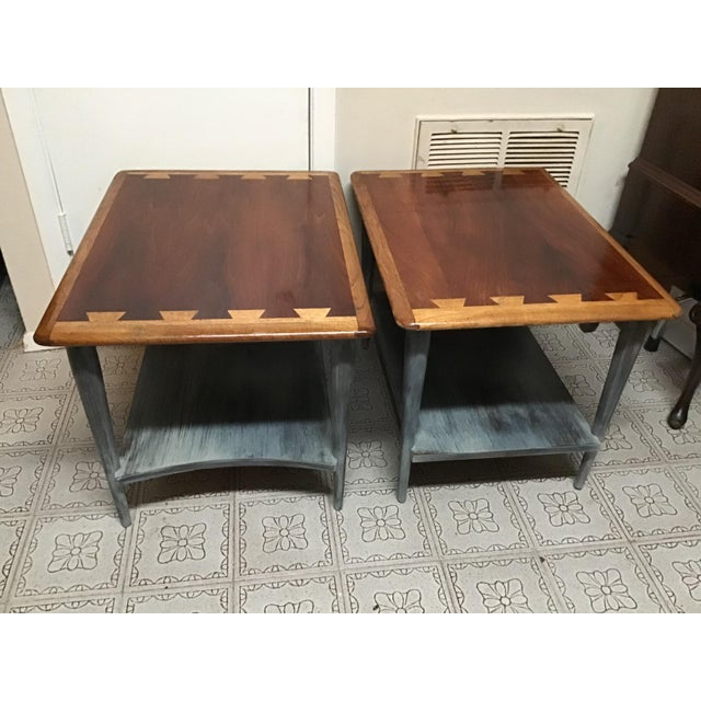 1900s Mid-Century Modern Lane Acclaim Dovetail Coffee and Side Tables - 3 Piece Set For Sale - Image 9 of 13