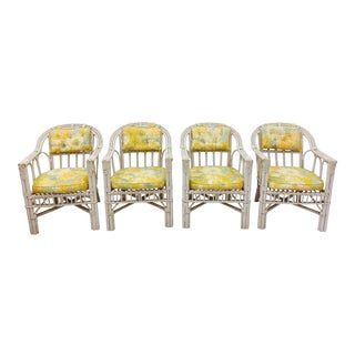 Mid-Century Palm Beach Chic Armchairs - Set of 4