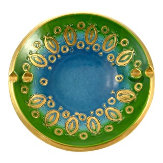 Aqua Bitossi Bowl by Aldo Londi, 1960s For Sale