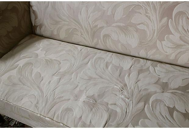 Vintage Ethan Allen Chippendale Sofa   Image 7 Of 8