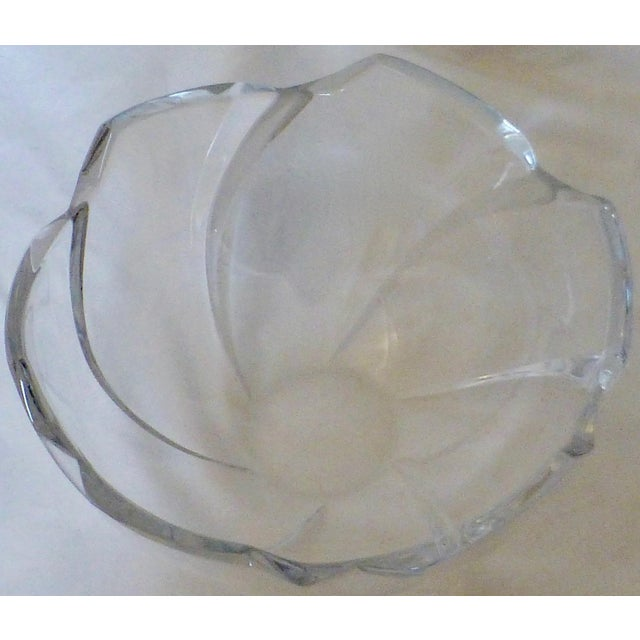 Tiffany and Co. Mid Century Tiffany & Co. Lead Crystal Wave Bowl For Sale - Image 4 of 12