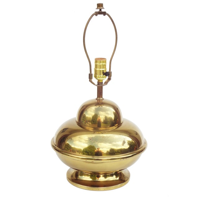 Petite Brass Chinoiserie Lamp For Sale - Image 6 of 8