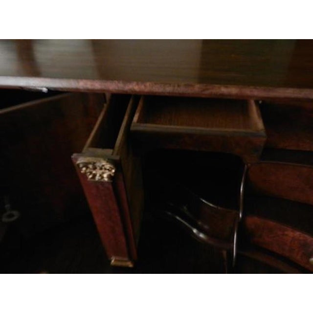 Late 18th Century Dutch Drop Front Desk in Burl Walnut circa 1780-1800 For Sale - Image 4 of 5