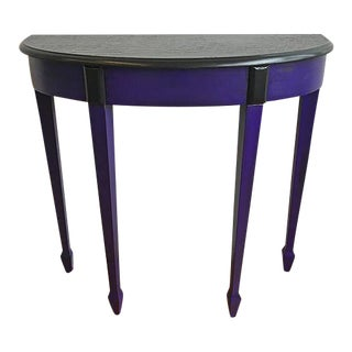 Half-Round Purple & Black Side Table