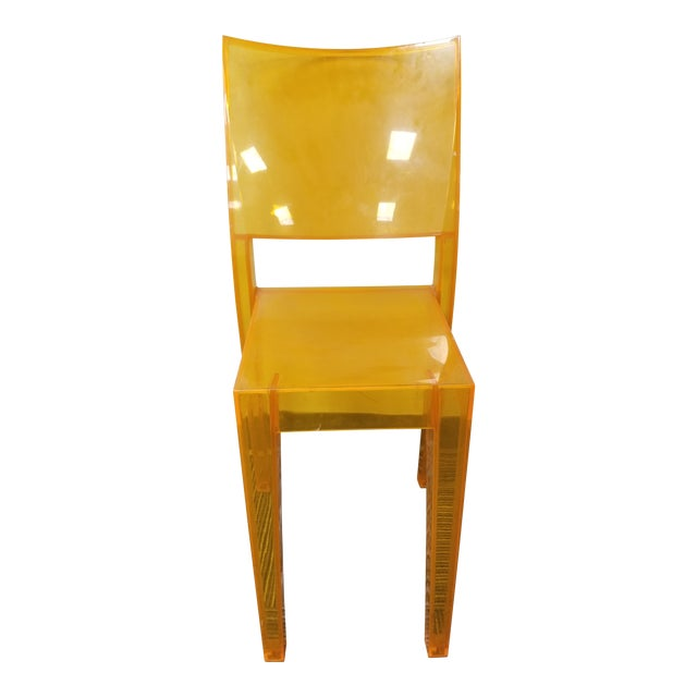 """1990s Kartell """"La Marie"""" Orange Side Chair For Sale"""
