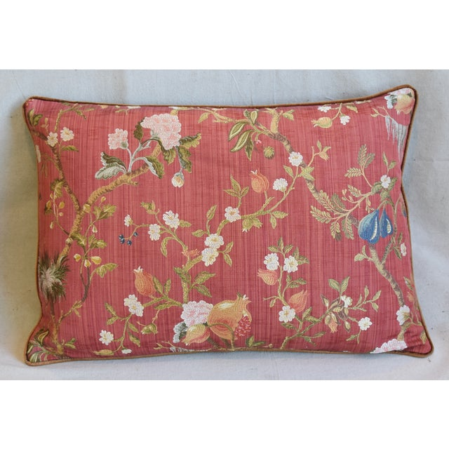 """Scalamandre Italian Scalamandre Melograno Silk Feather/Down Pillows 26"""" X 18"""" - Pair For Sale - Image 4 of 13"""