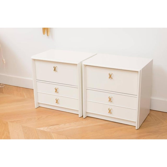 Paul Frankl Ivory Lacquered Nightstands - a Pair - Image 2 of 7