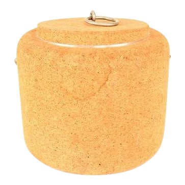 1970s Cork Ice Bucket by Signe Persson Melin for Boda Nova Sweden, Midcentury For Sale