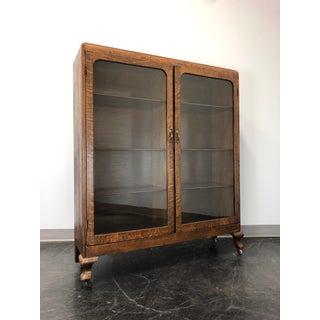 Antique Quartersawn Tiger Oak Curio Cabinet / Bookcase Circa 1900 Preview