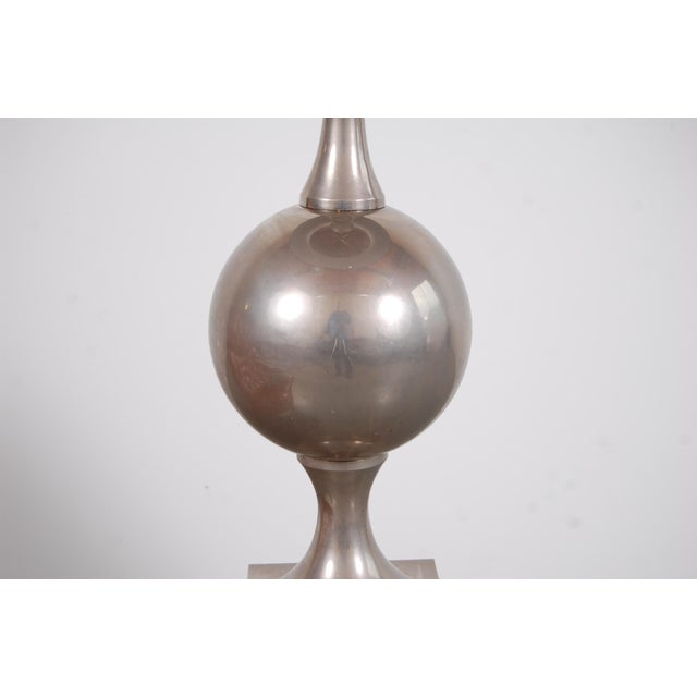 Philippe Barbier Nickel Plated Floor Lamp From Paris For Sale - Image 11 of 12