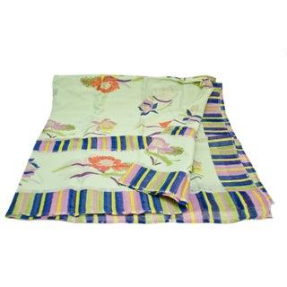 Lisa Corti Green Floral Queen Bedcover