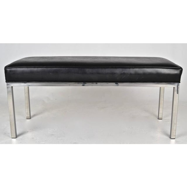 """Simple design and quality construction. Currently covered in very fine """"faux"""" leather in black. Great size."""