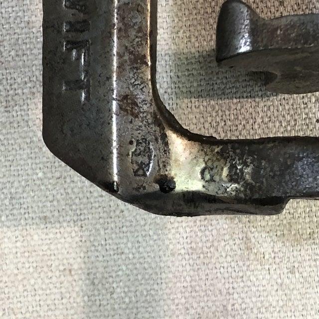 "Antique ""The Swift"" Brass Tabletop Corkscrew Bottle Opener For Sale - Image 12 of 13"