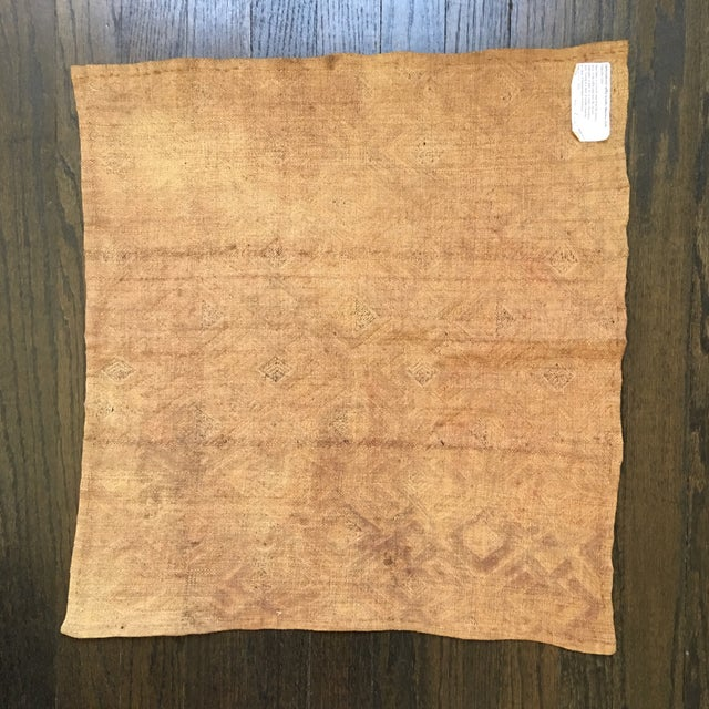 "Vintage Kuba Textile - 1'9"" x 1'7"" For Sale - Image 5 of 11"