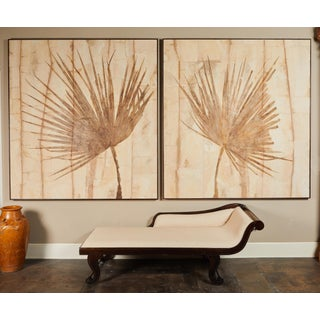 Pair of Large Fossilized Palm Fronds For Sale