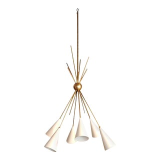 """Bouquet"" Chandelier in Enamel and Brass by Studio Machina for Blueprint Lighting *Custom Colors*"