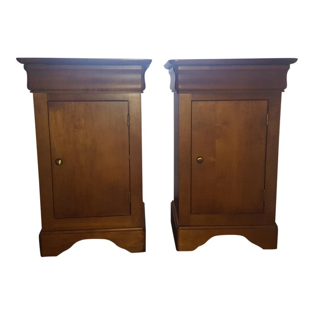 Modern Brown Side Tables- A Pair For Sale