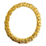 Image of Vintage Mid Century Runway Gold Collar Necklace For Sale