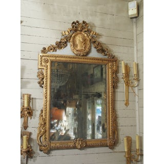 18th Century Italian Gilt Wood Mirror