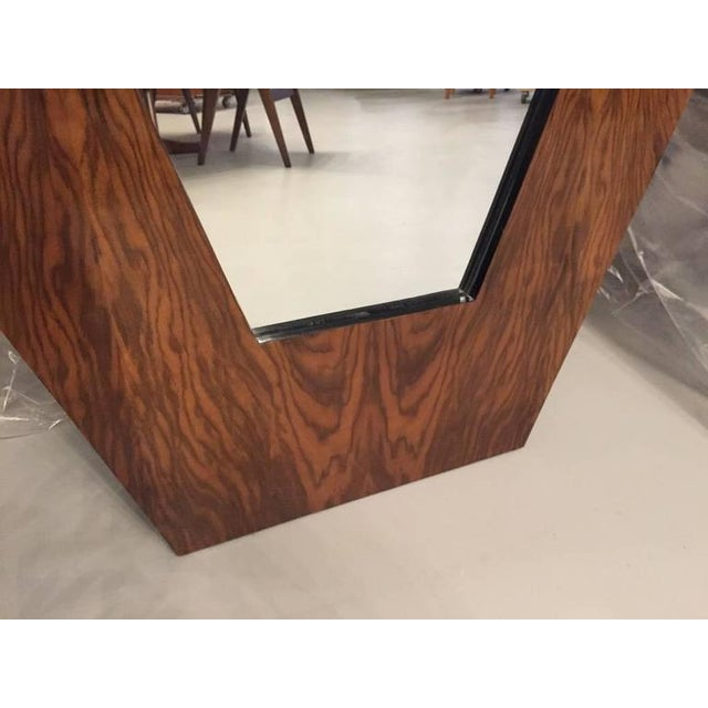 French Art Deco Walnut Standing Mirror - Image 2 of 8