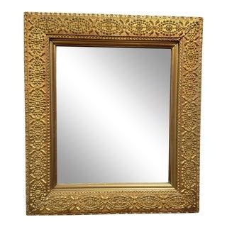Antique Victorian Era Gold Frame Decorative Mirror C1890 For Sale