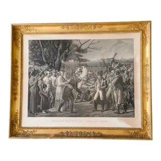 1830 Chaillou-Potrelle Engraving in Gold Gilded Frame For Sale