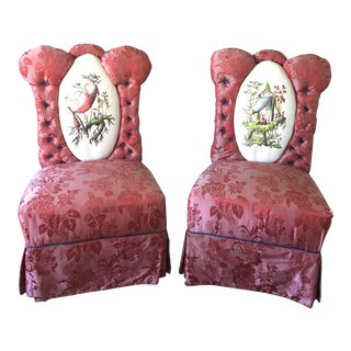 Antique Slipper Chairs - a Pair