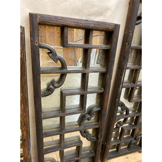 Antique Japanese Window Screens With Antiqued Mirror Preview
