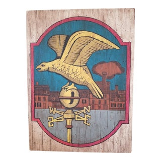 Americana Eagle Folk Art Painting on Wood