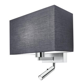Combination Wall Light With Led Reading Light in Polished Chrome For Sale
