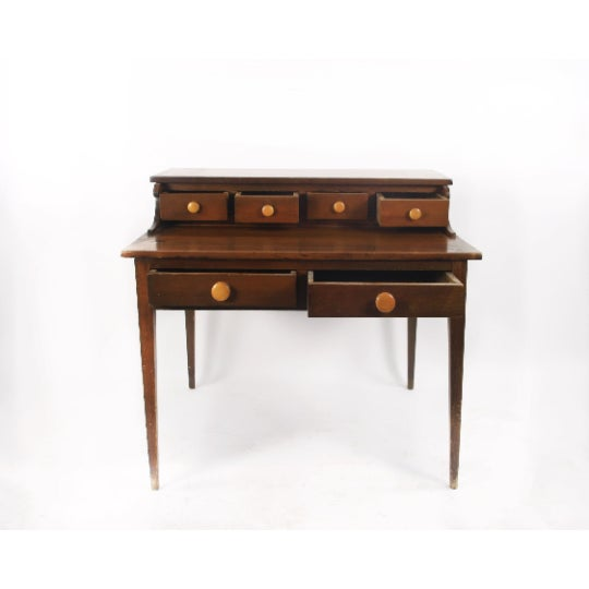 Traditional 1800s Traditional Handcrafted Postmaster's Desk For Sale - Image 3 of 7