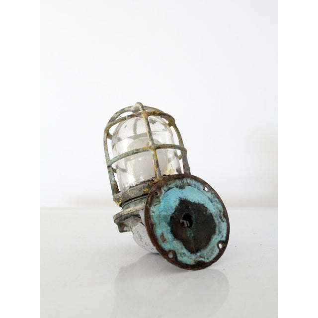 Mid 20th Century Vintage Boat Sconce For Sale - Image 5 of 7