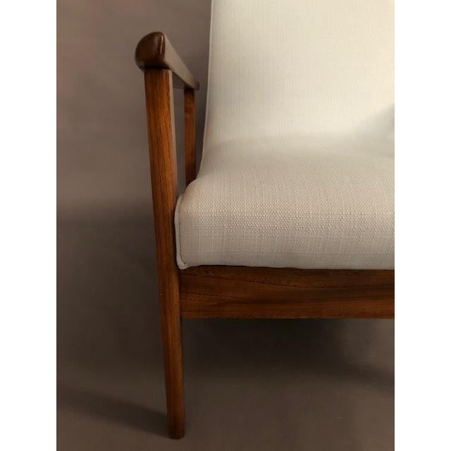 1960s Mid-Century Highback Lounge Chair For Sale - Image 5 of 12