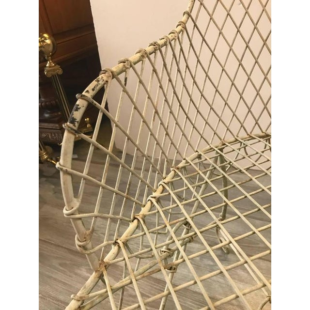 French Painted Wire Tub Back Chairs - a Pair - Image 8 of 10