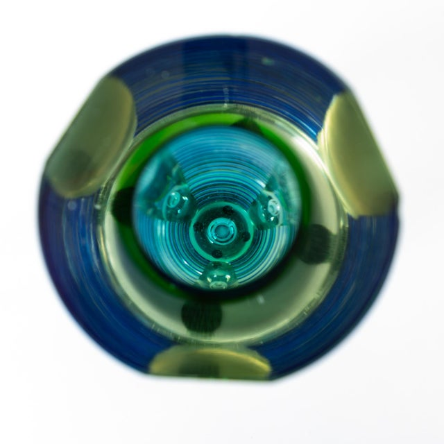 1980s Postmodern Glass Vase or Candlestick For Sale - Image 10 of 13