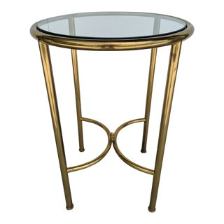 Vintage Mid Century Solid Brass Table For Sale
