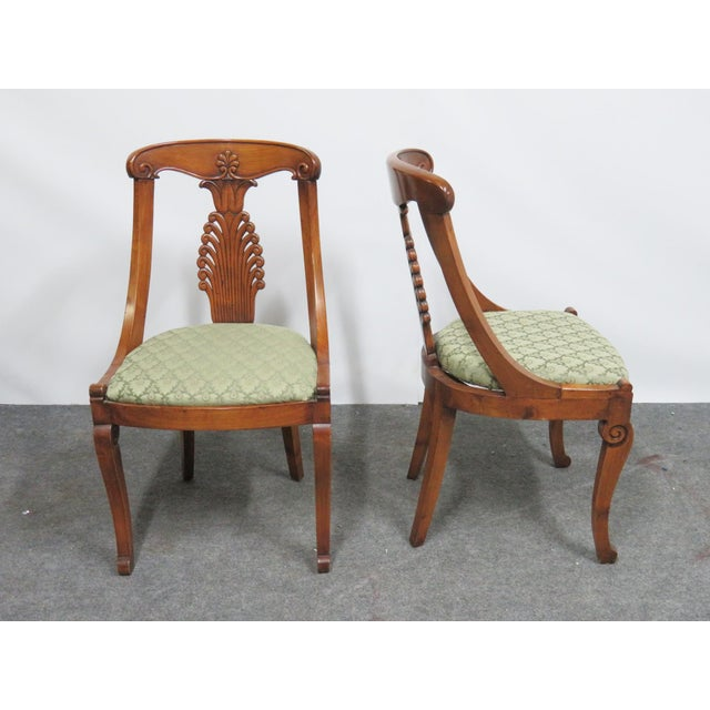 Late 19th Century 19th Century Antique Empire Klismos Carved Dining Chairs - Set of 6 For Sale - Image 5 of 8