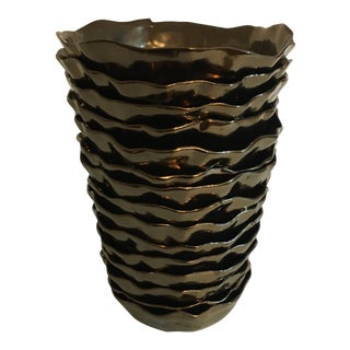 Organic Shaped Bronze Vase